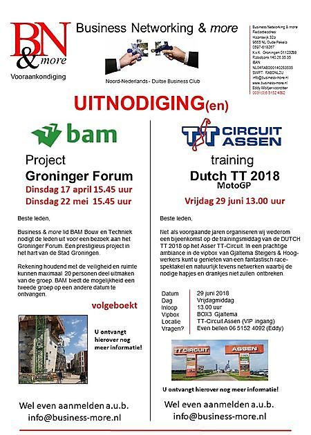 22 mei 2018 Business & more events - Business Networking & more