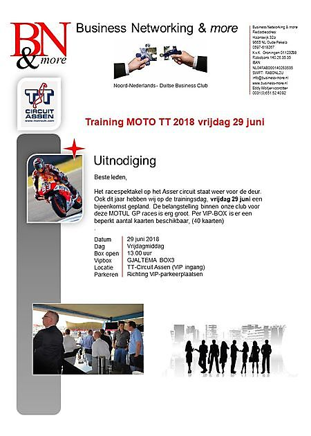 29 juni 2018 BN&m training MOTO GP 2018 - Business Networking & more