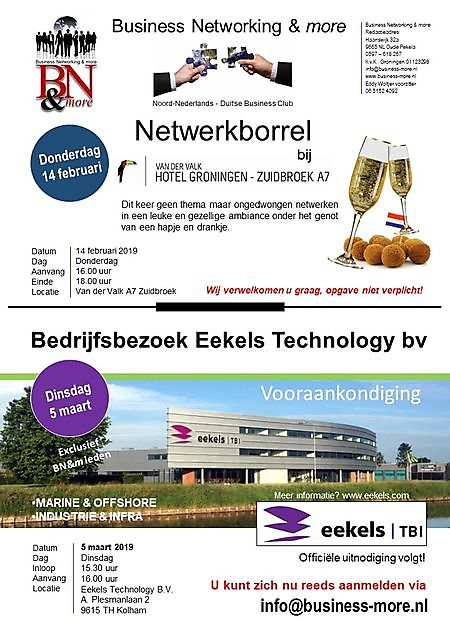 14 februari 2019 Netwerkbijeenkomst - Business Networking & more