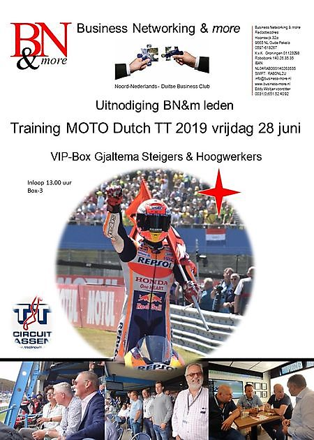 28 juni 2019 Training Dutch TT-2019 - Business Networking & more