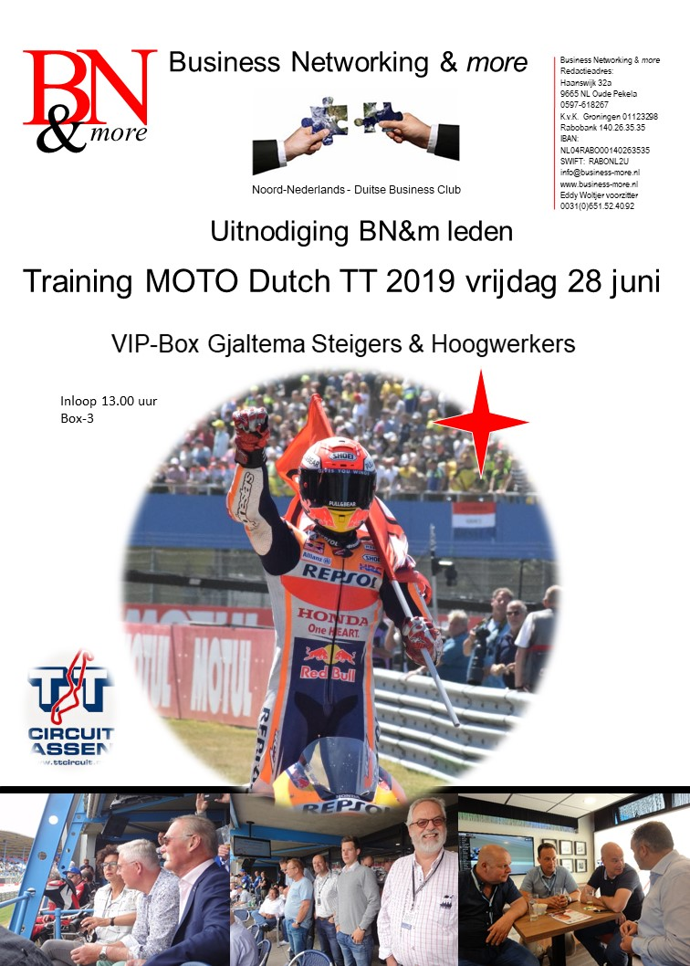 Training Dutch TT-2019 - Business Networking & more