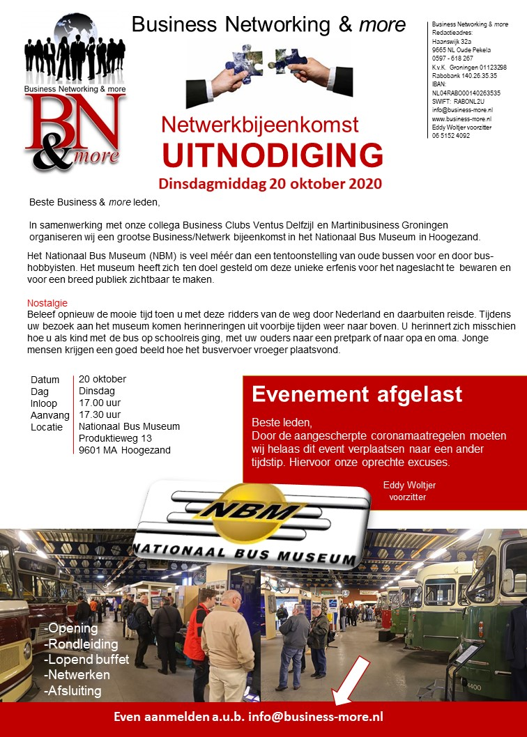Business bijeenkomst - Business Networking & more